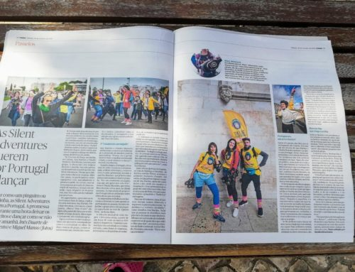 Our Silent Disco Tours have been featured in Publico newspaper!